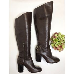 Vince Camuto Sydney Tall Boot - Drk Brown - size 7